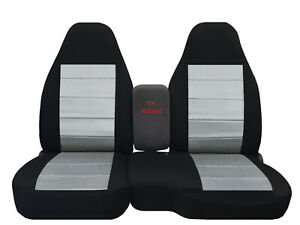 Designcovers Fits 2004 2012 Ford Ranger 60 40 Hiback Seat Covers Blk Silver Ins