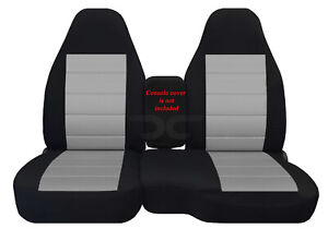 Designcovers Fits 2004 2012 Ford Ranger 60 40 Hiback Car Seat Covers Blk Silver