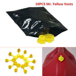 10 Yellow Fuel Gas Can Jug Vent Cap Blitz Wedco Scepter Midwest Eagle Solid