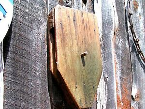 Old Handmade Wooden Pulley