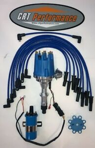 Pontiac 350 389 400 455 Pro Series Small Hei Distributor Blue 45k Coil Wires