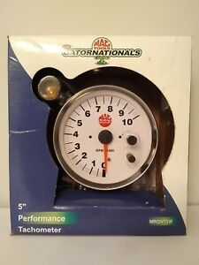 Mac Tools Gatornationls Tachometer 5 Inch shift Light new rare Find