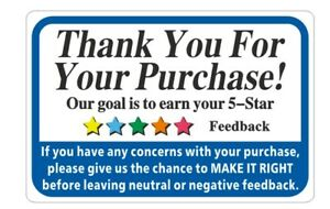 Thank You For Your Purchase Label Stickers 1 Roll Of 1000 Thank You Labels