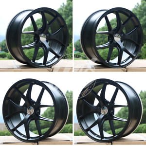 Brand New 18 X 8 5 Matte Black Style Rims Wheels 5x112 Offset 35 set 4