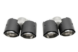 Fabspeed Carbon Fiber Quad Style Exhaust Tips For 2005 08 Porsche 997 Carrera