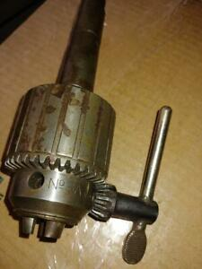 Jacobs Drill Chuck Machinists Lathe No 3a Morse Taper Arbor K3 Key Milling