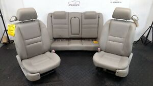 2007 Chevy Monte Carlo Front Rear Leather Power Seats Gray Titanium 83i
