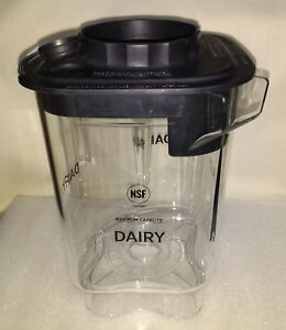 Vitamix Blending Station Advance Container Jar Dairy With Black Lid New 48 Oz