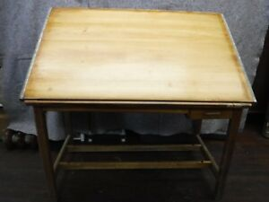Vintage 1950 s Hamilton Wooden Drafting Work Drawing Table