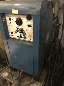 Miller 330a bp Ac dc Stick tig Welder W leads torch Foot Pedal And Water Cooler