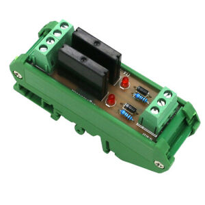 Solid State Relay Module Driver Board High Level Trigger 2 Ch With Base
