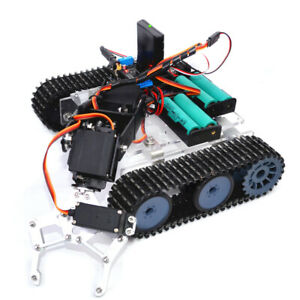 Diy 4 dof Ps2 Remote Control Robot Tank Chassis Mechanical Arm For Arduino