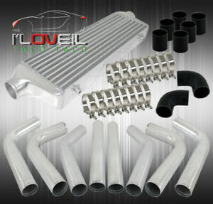 2 5 Inlet outlet Turbo Intercooler Bar And Plate Type piping Kit Turbo Upgrade