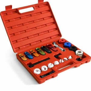 22pcs Transmission Line Disconnect Oil Cooler Tool Set Fuel Air Conditioning Ac