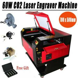 60w Laser Engraving Cutting Machine Laser Engraver Water Chiller Rotary Axis