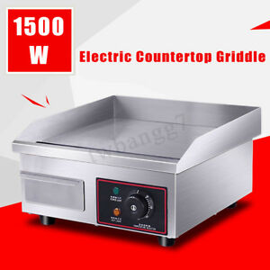 1500w 14 Electric Countertop Griddle Commercial Restaurant Flat Top Grill