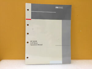 Hp Agilent 04263 90010 4263b Lcr Meter Operation Manual