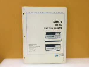 Hp Agilent 05315 90021 5315a b Universal Counter Operating Service Manual