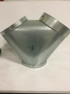 Industrial Dust Collection Welded Galvanized Steel Wye Adapter
