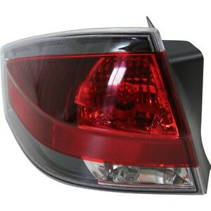 Halogen Tail Light For 2009 2010 Ford Focus Coupe Left W Painted Insert bulbs