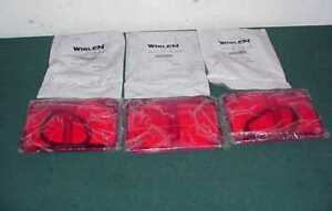 3 three New Genuine Whelen 900 Red Lens Cover With Gasket Pn 01 0481349 50p