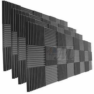 96 Pack Of Acoustic Panels Studio Soundproofing Foam Wedge Tiles 1 x12 x12