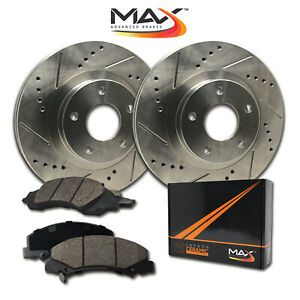 Front Rotors W Ceramic Pads Premium Brakes 2006 2017 Fit Dodge Ram 1500