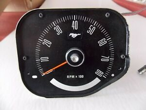 1969 1970 Ford Mustang Boss 302 Gt 428 Scj Oem Tach Assembly Standard Interior