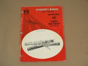 International Harvester Owners Manual 480 Tandem Disk Harrow Wheel Control 1971