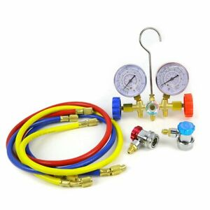 Auto Manifold Gauge R12 R22 R134a R502 A c Set With Couplers
