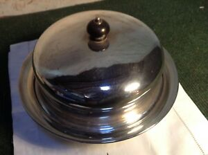 Antique Vintage Silver Plated Domed Entree Tureen Serving Plate