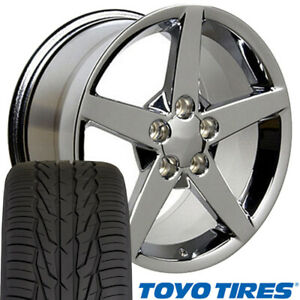 Cp 17 Wheel Tire Set Fit Corvette C6 Style Chrome Rims Toyo X