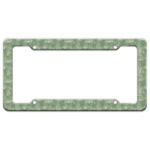 Palm Tree Leaves License Plate Tag Frame