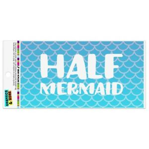 Half Mermaid With Blue Scales Automotive Car Refrigerator Locker Vinyl Magnet