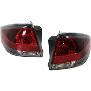 Set Of 2 Tail Light For 2009 2010 Ford Focus Se Coupe Lh Rh W Bulb S
