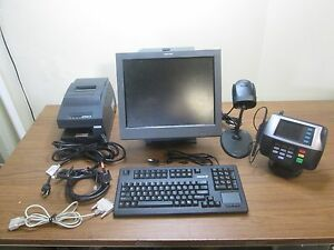 Toshiba Point Of Sale System Bundle Used Epson Printer Keyboard Scanner Working