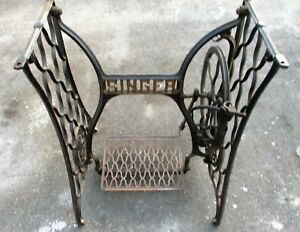Singer Antique Cast Iron Treadle Sewing Machine Base 1