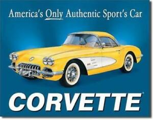 Corvette Americas Only Sports Car Vette Metal Sign 16x12 5 Chevy 1958 C1