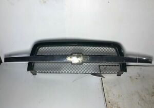 2004 Chevy Silverado 1500 Front Chrome Grille Grill W Green Trim Oem