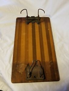 Vintage Globe Wernicke Columbia File Wood Clipboard With Hole Punch Rare