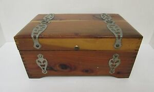 Redwood Box Labeled J C Penny Inc Playthings For Marylu Vintage Classic Xx