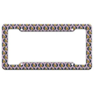 Cheetah And Leaves License Plate Tag Frame