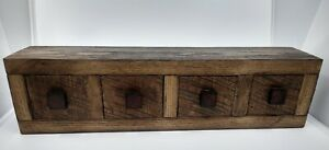 Vintage Apothecary 4 Drawer Spice Cabinet Barn Wood 7 Lbs 8oz