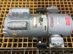 Gast 6hca 10 m616nex Oilless Dual Piston Air Compressor New Has Shelf Wear