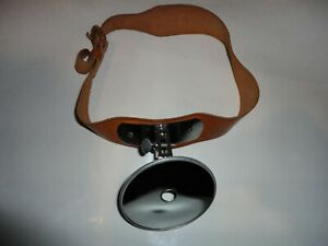 Antique Medical Dr Doctor Head Mirror Reflector Adams Carstens Leather