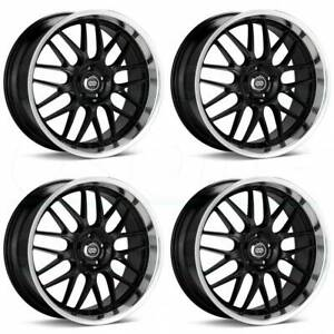 18x8 18x9 Enkei Lusso 5x114 3 40 40 Black Paint Wheels Rims Set 4