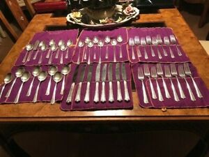 50 Pc Set Fine Arts Processional Sterling Silver Flatware Service I 7