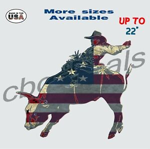 American Cowboy Decal Sticker Rodeo Car Truck Window Decals Bull Riding