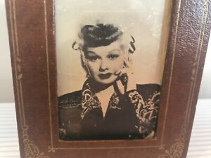 Vintage Two Way Picture Frame With Lucille Ball Paper Photo 1940 S