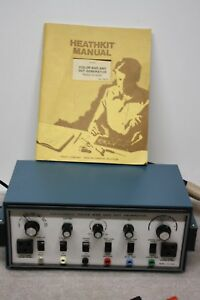 Vintage Heathkit Color Bar And Dot Generator Ig 5228 With Manual